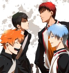 This is just cool and both are fav otps, kageyama x hinata and kagami x kurok.