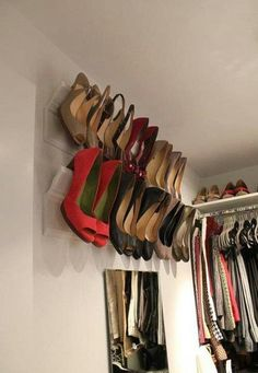 Awesome Closet  Idea (Could Use Towl Rack or Curtain Rod Also)
