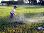 Bottle Rockets - make a water powered rocket from a 2 liter bottle, powered by water and air pump