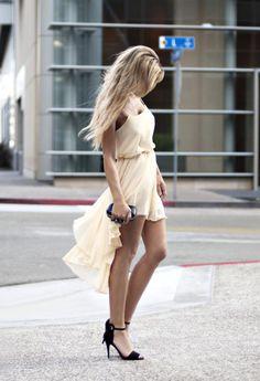 Shop this look on Kaleidoscope (dress, purse, heels)  http://kalei.do/W8YJNHeGIWmEXRCG