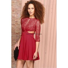 Herve Leger Red Mesh Sexy Dress MX221R
