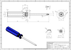 POPULAR 3D CAD EXERCISES - SCREW DRIVER - STUDYCADCAM