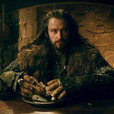 Thorin eating at Bree.