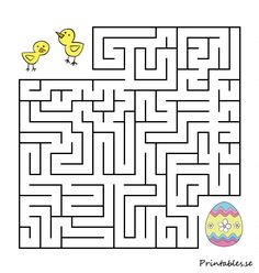 Small maze: Help the chicks find their easter egg 2 1st Grade Activities, Easter Activities, Preschool Activities, Mazes For Kids, Art For Kids, Crafts For Kids, Printable Mazes, Easter Coloring Pages, Paper Puppets