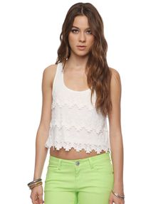 $17.80 with a high waisted skirt?  I don't normally do cropped tops because they don't flatter usually, but worth a shot...