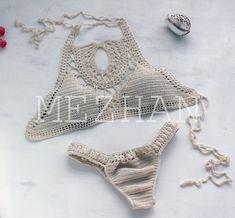 Crochet Bikini  crop top bikini bottoms Crochet bikini