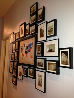 Hey guys, I thought I would share a little information on the travel wall I did . - Hey guys, I thought I would share a little information on the travel wall I did in the loft with Am - Postcard Display, Postcard Wall, Travel Gallery Wall, Photowall Ideas, Inspiration Wand, Travel Wall Decor, Travel Themes, Room Themes, Cool Walls