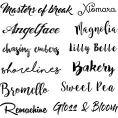 Fontes lindas e gratuitas para baixar e usar Tattoo Letras, Nice Handwriting, Cool Fonts, Calligraphy, Magnolia, Scrap, Sparkle, Wattpad, Design