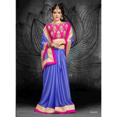 Saroj Majestic Chiffon Saree with heavy blouse work