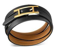Black hermes bracelet on wrist