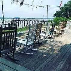 Porch sitting is an art. Learn it in Lowcountry! Low Country, Country Life, Life Run, Relaxing Places, Hilton Head Island, Coastal Style, Garden Bridge, Deck, Outdoor Structures
