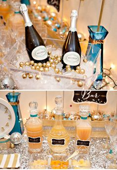 Sweet & Sparkly Bubbly Bar {New Years Eve & Beyond!} gold wrapped chocolate!