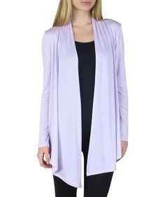 Look what I found on #zulily! Lavender Solid Open Cardigan - Women #zulilyfinds