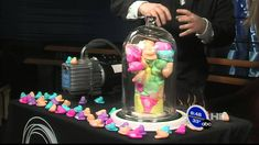Peeps in a vacuum chamber