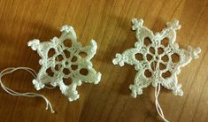 Kässämartat: Joulukalenterin 8. luukku: Virkattu lumihiutale Crochet Snowflakes, Free Crochet, Diy And Crafts, Crochet Earrings, Crochet Patterns, Stars, Christmas, Jewelry, Natal