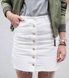 Asos white skirt