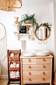 Baby Nursery Decor, Nursery Neutral, Baby Decor, Girl Nursery, Nursery Room, Boho Nursery, Nursery Ideas, Bedroom, Neutral Baby Rooms