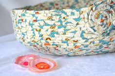 Blue Cat Bed Handmade Blue Teal Basket Shabby by WexfordTreasures