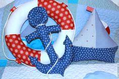Купить Морской стиль Набор текстильных игрушек - морской стиль, спасательный круг, текстильная игрушка