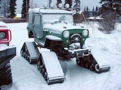 Flatfendersforever Cj3b On Tracks How Freaking Cool Is That Jeep Truck Willys Jeep Willys