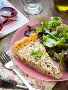 Recette de tarte à la courgette et tofu soyeux - 100% végétale - Jujube en Cuisine