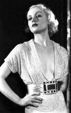 Carole Lombard; what a great dress.