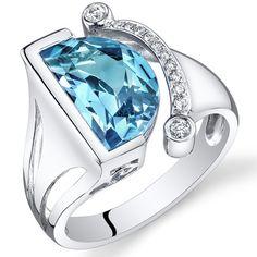 Peora.com - 14 Kt White Gold 4.15 cts Swiss Blue Topaz and Diamond Ring R61832, $649.99 (http://www.peora.com/14-kt-white-gold-4-15-cts-swiss-blue-topaz-and-diamond-ring-r61832/)