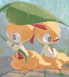 pokemon, rain, and scraggy Bild