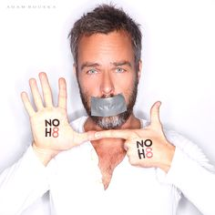 NOH8 Campaign - JR Bourne - Actor - See more: http://www.noh8campaign.com/photo-gallery/familiar-faces-part-7/photo