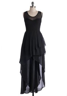 Dramatic Dance Debut Dress in Black, #ModCloth