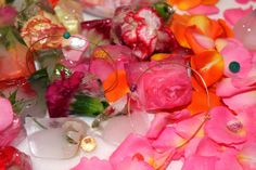 flowers & ice cube