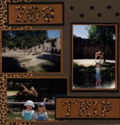 zoo scrapbook layout ideas | summer scrapbook pages layout 14 zoo trip layout design by jennifer ...