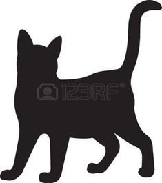 silhouette chat: Chat Illustration