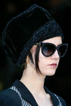 Sunglasses 2014 - fashionable and stylish accessory. What sunglasses are trendy in Look here - photos of the most stylish new products of the year. Giorgio Armani, Cat Eye Sunglasses, Sunglasses 2014, Androgyny, Cool Hats, Signature Collection, Fashion Show, Fashion Design, Suits