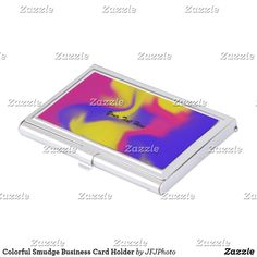 Business card with retro tie dye background business cards fully colorful smudge business card holder colourmoves