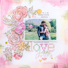 12x12 scrapbook layout with cross-stitching created with Pinkfresh Studio + Altenew Celebrate collection | by Flóra Mónika Farkas Click for SUPPLIES LIST! Scrapbook Storage, 12x12 Scrapbook, Scrapbook Albums, Scrapbooking Layouts, Studio Layout, Image Layout, Altenew, General Crafts, Creating A Brand