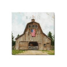 Farmhouse Paintings, Barn Paintings, Vintage Paintings, Country Barns, Old Barns, Barn Pictures, Cottage Art, White Barn, Barn Wood