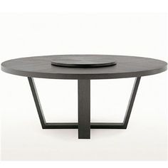 Maxalto Xilos Round Dining Table - Style # SMTT16, Modern and contemporary dining tables at SWITCHmodern.com