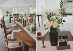 rustic centerpieces   photos by Nicole Roberts   100 Layer Cake