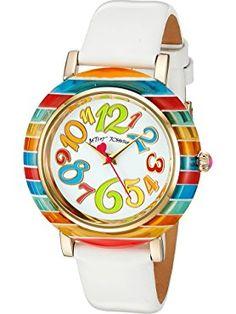 c960874252 Betsey Johnson Women s BJ00118-03 Analog Display Quartz White Watch ❤ Betsey  Johnson Watches