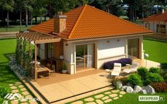 Modern Wood House Plans - Tradition In Contemporary Lines - Houz Buzz Village House Design, Bungalow House Design, Village Houses, Beautiful House Plans, Modern House Plans, Hut House, Farm House, Affordable House Plans, Indian House Plans