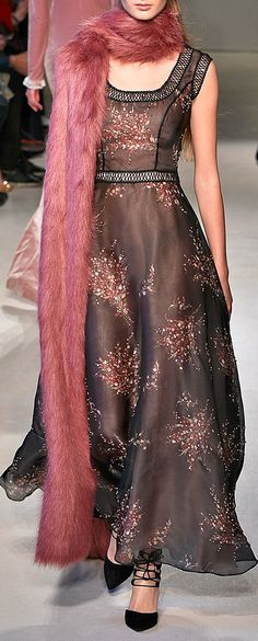 LUISA BECCARIA Bouquet Printed Organza Dress With Embroidery