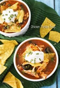 Best Slow Cooker Chicken Tortilla Soup on MyRecipeMagic.com Simple, Hearty & Delicious!