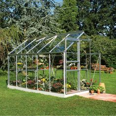 Serre de jardin 6,2m² verre horticole Popular - Halls sur ma-serre-de-jardin.com
