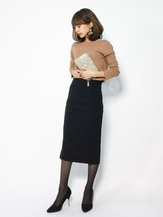 NATURAL BEAUTY BASICのニット・セーター「ミラノリブニット」を使ったeriko(ZOZOTOWN)のコーディネートです。WEARはモデル・俳優・ショップスタッフなどの着こなしをチェックできるファッションコーディネートサイトです。