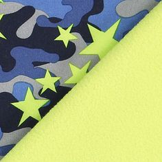 Softshell Camouflage 2 - Polyester - jeansblau
