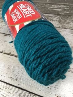 Red Heart Super Saver Yarn Worsted Weight Blue Green Real Teal 0656 New #RedHeart #RealTeal