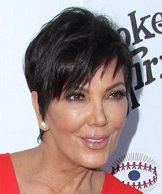 Kris Jenner Hairstyle - Short Straight Casual - Dark Brunette