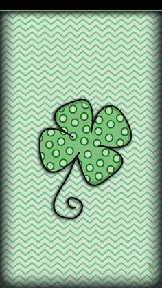 iBabyGirl Shamrock Dots iPhone 5 Wallpaper.