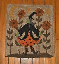 PRIMITIVE PUNCH NEEDLE PATTERN ~ THE DANCING WITCH